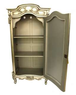 French Style designer Furniture Mirrored Silver Armoire mirror