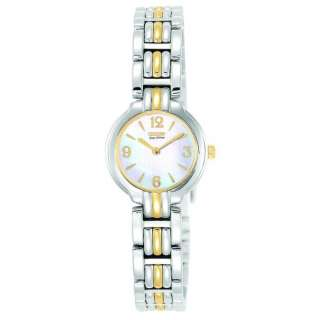 CITIZEN ECO DRIVE LADIES SILHOUETTE TWO TONE WATCHEW8694 52D NEW IN