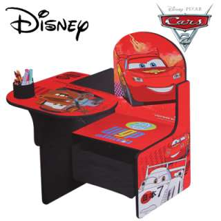 Disney Pixar Cars 2 Art/Play Desk & Chair w Storage Bin for Kids 18