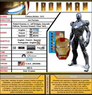 Iron Man Ultimate Edition 2 Disc Mask Case [Blu Ray]