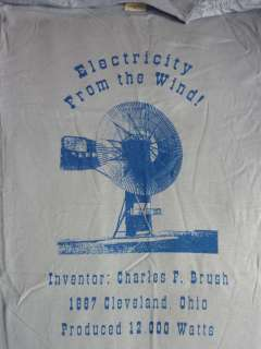 Renewable Energy Wind Power T shirt 1st Invented