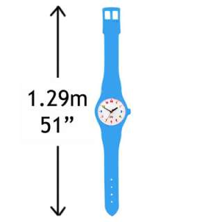 Giant Watch Wall Clock in blue. Over 4ft long! 1.29 metres. battery
