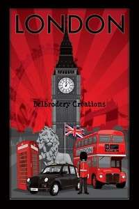 Grille point croix/cross stitch chart London Londres 1