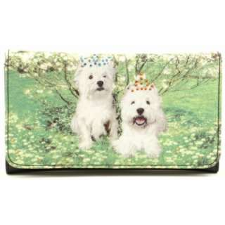 Westie West Highland Terrier Dogs Wallet for Purse Tote