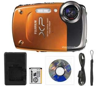 Fuji Finepix XP20 14MP 5 meter Waterproof HD Digital Camera Orange