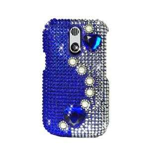 BLUE PEARLS BLING HARD CASE COVER FOR KYOCERA RIO E3100