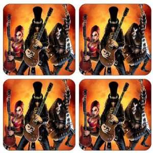 Guitar hero Coasters , (set of 4) Brand New!
