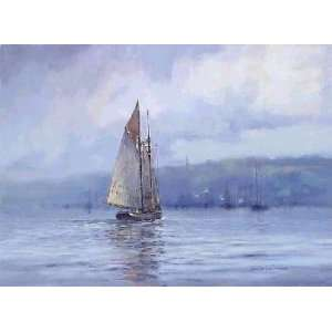 Paul Landry   A Schooners Return Canvas Giclee:  Home