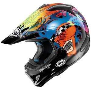 Arai VX Pro III Russell Helmet   Large/Black/Blue/Orange: Automotive