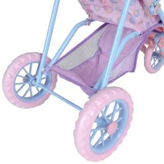 Kids Peppa Pig 3 Wheel Stroller Baby Dolls Push Chair