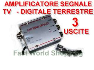 AMPLIFICATORE SEGNALE ANTENNA DIGITALE TERRESTRE CA TV