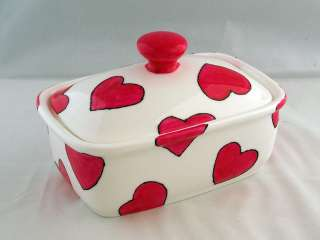 Funky Hand Painted in Cornwall Bone China Butter Dish
