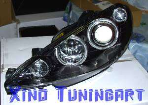 Fari Fanali ANGEL EYES NERI PEUGEOT 206 Led CC black