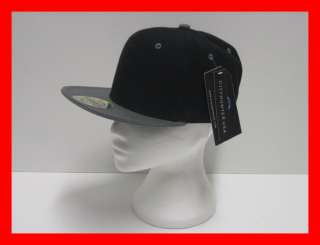 City Hunter USA SnapBack Plain 2 Tone Baseball Cap Hat