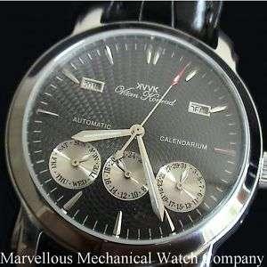 20 Jewel Mens AUTOMATIC VAAN KONRAD CALENDARIUM Watch