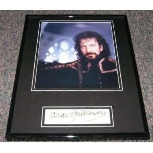 Alan Rickman Robin Hood Signed Framed Photo 11x14 Jsa