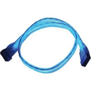 SATAEL 18BL Serial ATA Internal Data Neon EL Blue Cable   18 inches