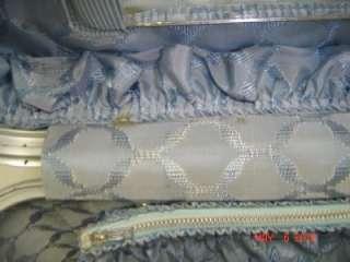 Vtg mid century Amelia Earhart large blue train case travel luggage
