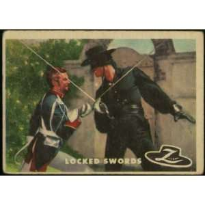 1958 Zorro Card #31 Locked Swords Guy Williams, Don Diamond: Books