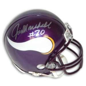 Jim Marshall Signed Minnesota Vikings Mini Helmet: Sports