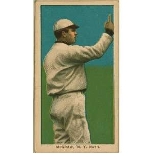 John McGraw, New York Giants, baseball card 1909 Home