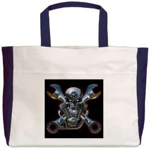 Beach Tote Navy Motorhead Skull Wrenches: Everything Else
