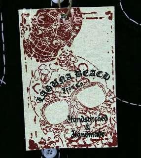 Laguna Beach Jean Black Sugar Skull Button Down shirt