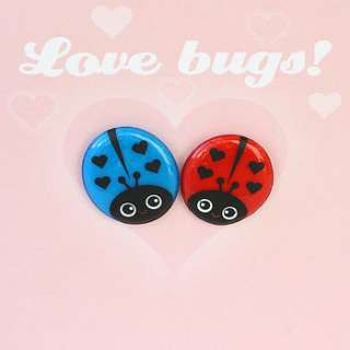 valentines love bugs magnet card by pango productions
