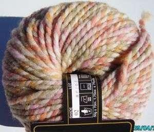 Naturally Yoshie Knit Yarn 80% Wool Pink,Taupe, Yellow
