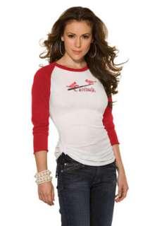 St. Louis Cardinals Cooperstown Womens 3/4 Sleeve Raglan Top   by