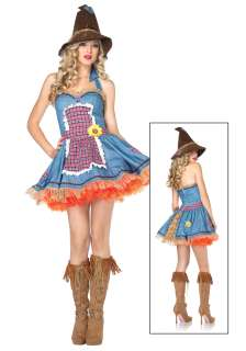 Sexy Sunflower Scarecrow Costume   Leg Avenue Wizard of Oz Costumes