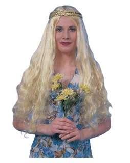 Blonde Hippie Flower Child Wig Adult  Wigs 60s Hats, Wigs & Masks