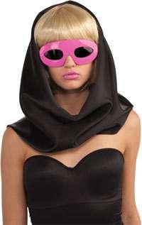 Lady Gaga Glasses in Pink   Lady Gaga Costume Accessories
