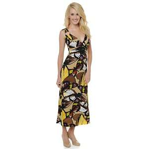 Antthony Butterfly Print Maxi Dress