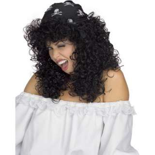 Sexy Pirate Black Adult Wig   Costumes, 31930