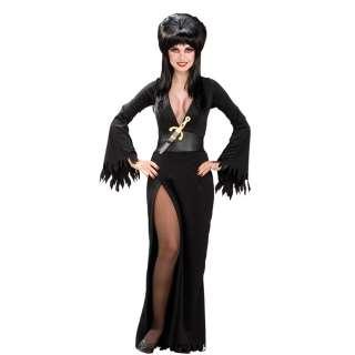 Sexy Elvira Adult Costume   Includes Dress, belt and dagger. Wig