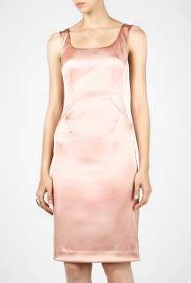 Pink Stretch Satin Sicily Dress by D&G