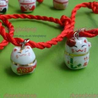 Lucky Cat Maneki Neko Bracelet Wrist DIY Handmade Gift
