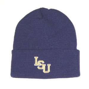 Tigers NCAA Adidas Purple Cuffed Knit Beanie Hat