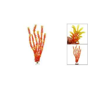 Orange Plastic Plant Grass for Aquarium Fish Tank: Pet