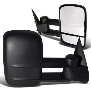Silverado Tahoe Suburban Black Manual Towing Side Mirrors Automotive