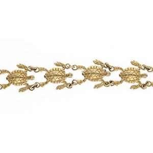 Reyes del Mar 14K Gold Turtle Bracelet