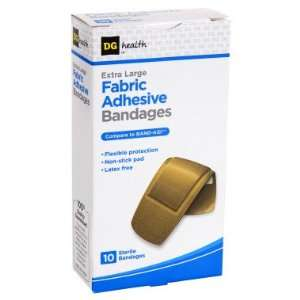 DG Health Fabric Adhesive Bandages   Extra Large   10 ct