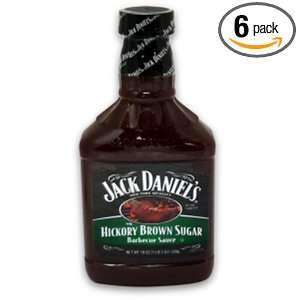 Jack Daniels Barbecue Sauce, Hickory Brown Sugar, 19 Ounce Bottles