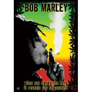 HUGE Bob Marley Smoke Herb Banner, 5 Feet Tall