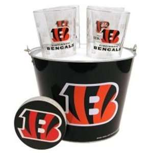NIB Cincinnati Bengals NFL Beer Glass & Coaster Set