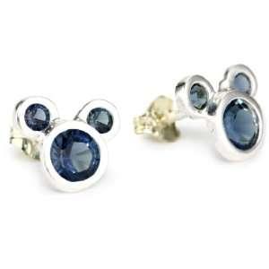 Girls Sterling Silver September Birthstone Stud Crystal Earring