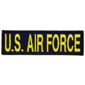 U.S. Air Force Patch Black & Yellow 1 1/4 x 5 1/4 Patio