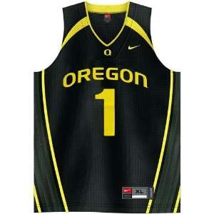 Nike Oregon Ducks #1 Black Replica Basketball Jersey