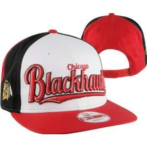 Blackhawks New Era Script Wheel Snapback Adjustable Hat Sports